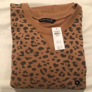 Cheetah print sweatshirt